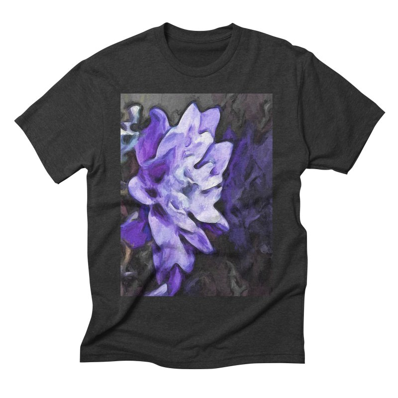 Purple Flower and Reflection Men's Triblend T-Shirt by jackievano's Artist Shop