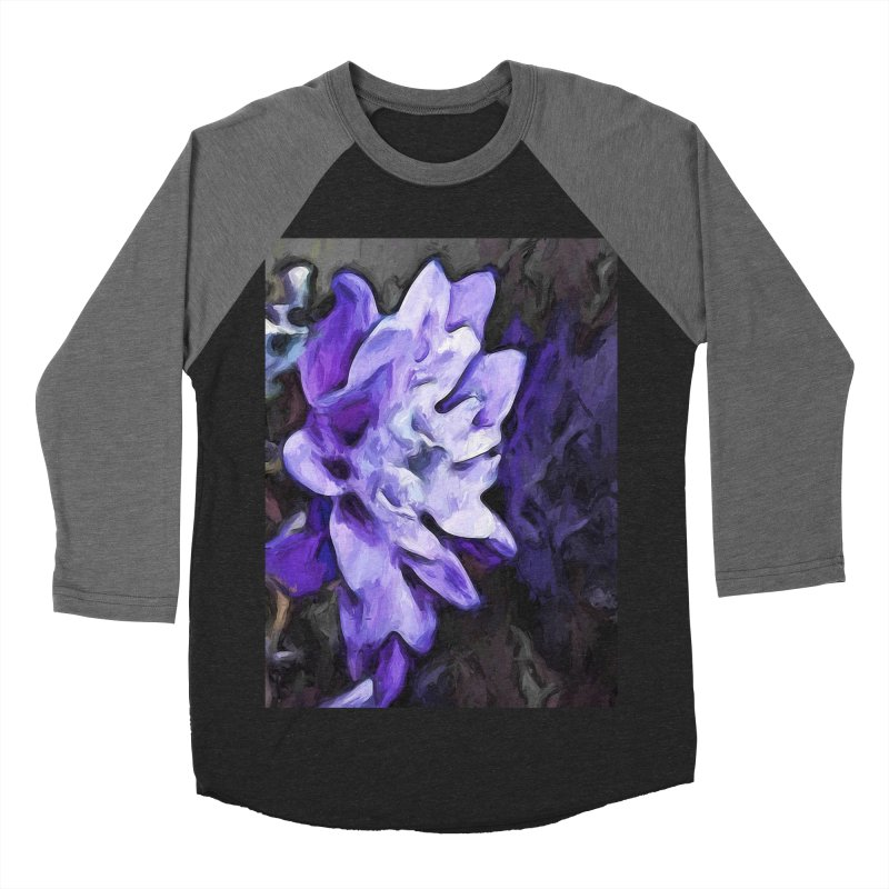 Purple Flower and Reflection Women's Baseball Triblend T-Shirt by jackievano's Artist Shop