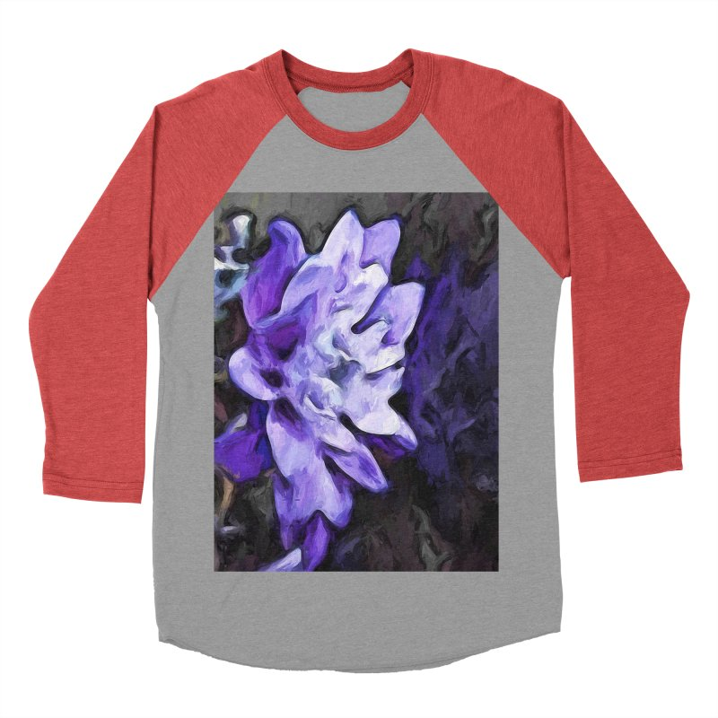 Purple Flower and Reflection Men's Baseball Triblend T-Shirt by jackievano's Artist Shop