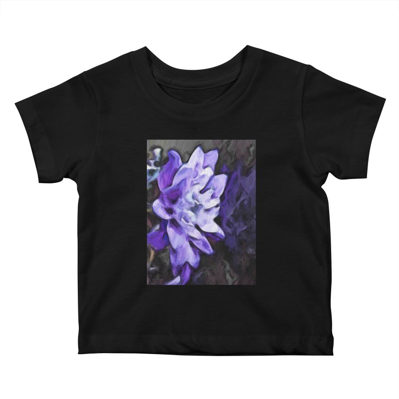 Purple Flower and Reflection Kids Baby T-Shirt by jackievano's Artist Shop