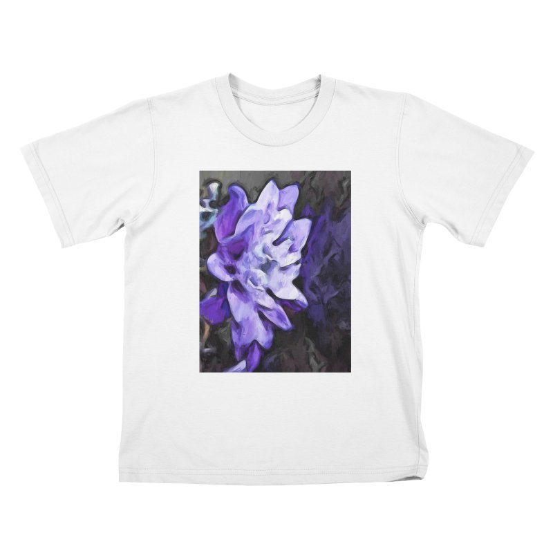 Purple Flower and Reflection Kids T-Shirt by jackievano's Artist Shop