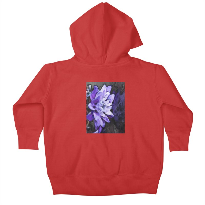 Purple Flower and Reflection Kids Baby Zip-Up Hoody by jackievano's Artist Shop