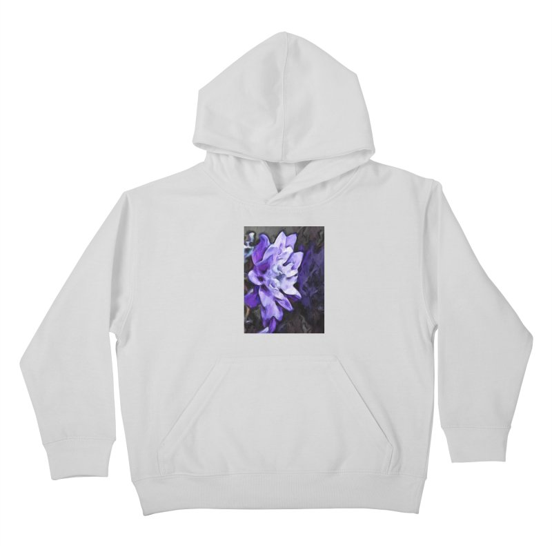 Purple Flower and Reflection Kids Pullover Hoody by jackievano's Artist Shop