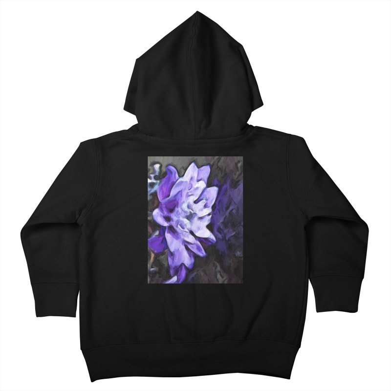Purple Flower and Reflection Kids Toddler Zip-Up Hoody by jackievano's Artist Shop