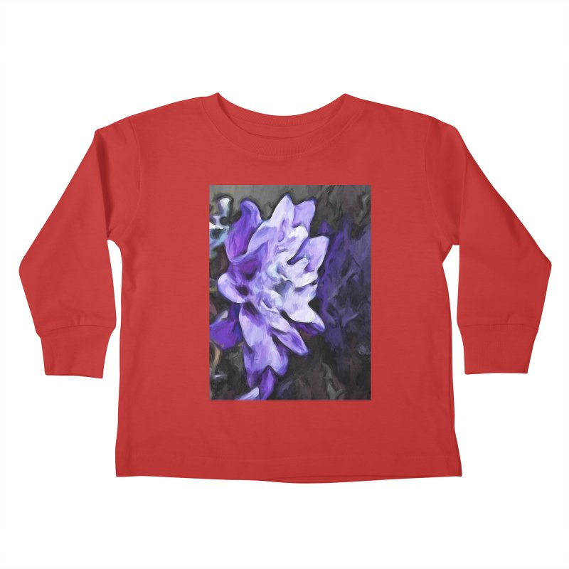Purple Flower and Reflection Kids Toddler Longsleeve T-Shirt by jackievano's Artist Shop