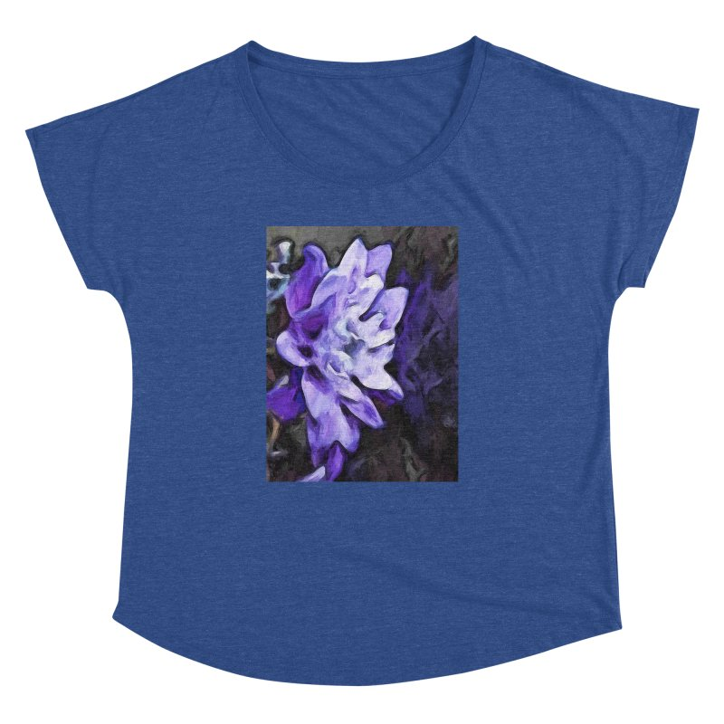 Purple Flower and Reflection Women's Dolman by jackievano's Artist Shop