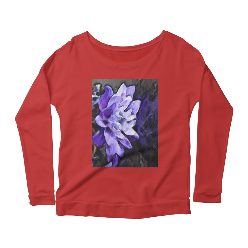 Purple Flower and Reflection Women's Longsleeve Scoopneck  by jackievano's Artist Shop
