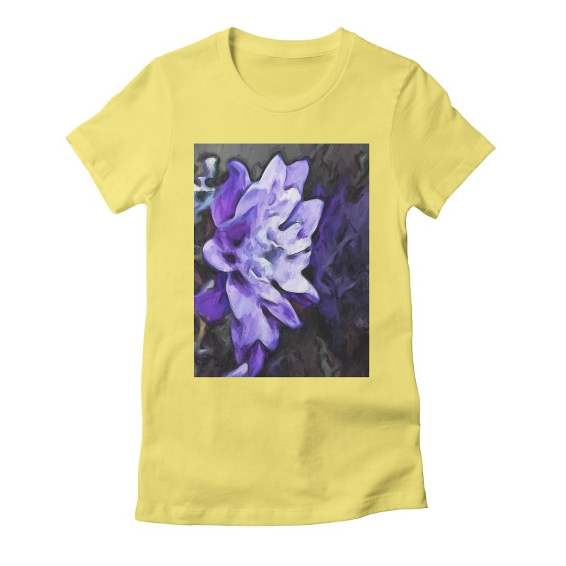 Purple Flower and Reflection Women's Fitted T-Shirt by jackievano's Artist Shop