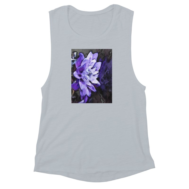Purple Flower and Reflection Women's Muscle Tank by jackievano's Artist Shop