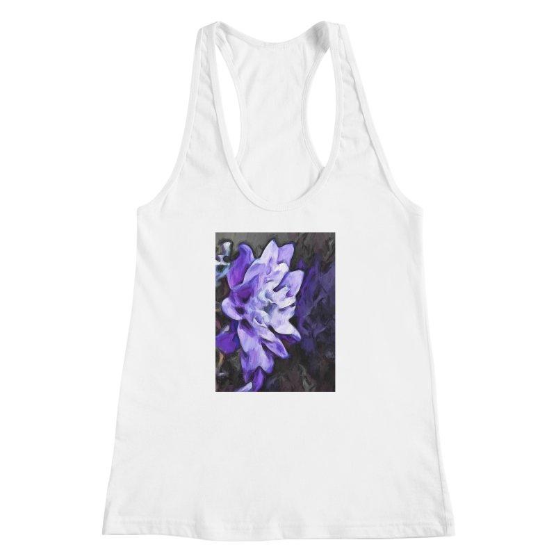 Purple Flower and Reflection Women's Racerback Tank by jackievano's Artist Shop