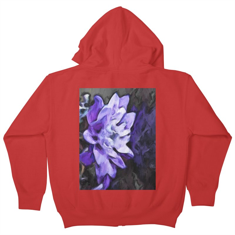 Purple Flower and Reflection Kids Zip-Up Hoody by jackievano's Artist Shop