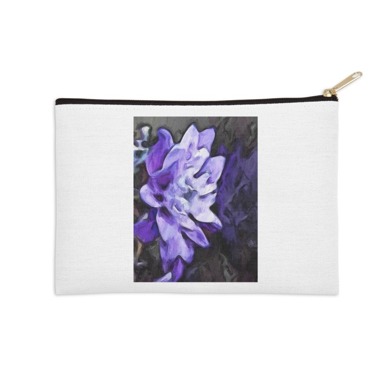 Purple Flower and Reflection Accessories Zip Pouch by jackievano's Artist Shop