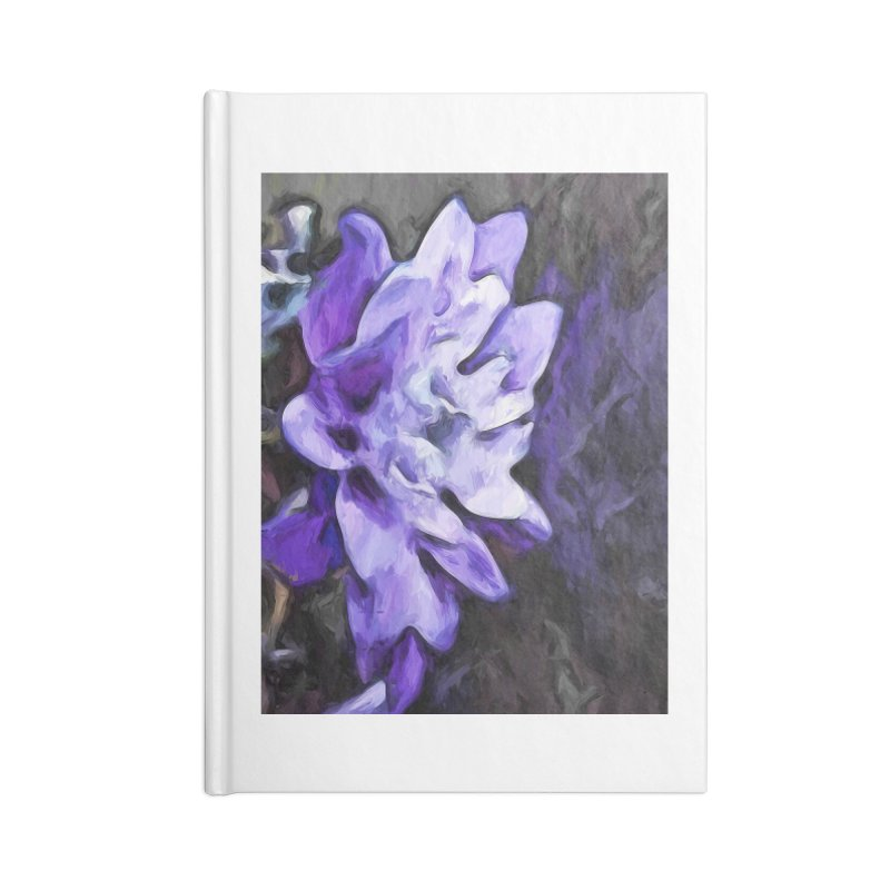 Purple Flower and Reflection Accessories Notebook by jackievano's Artist Shop
