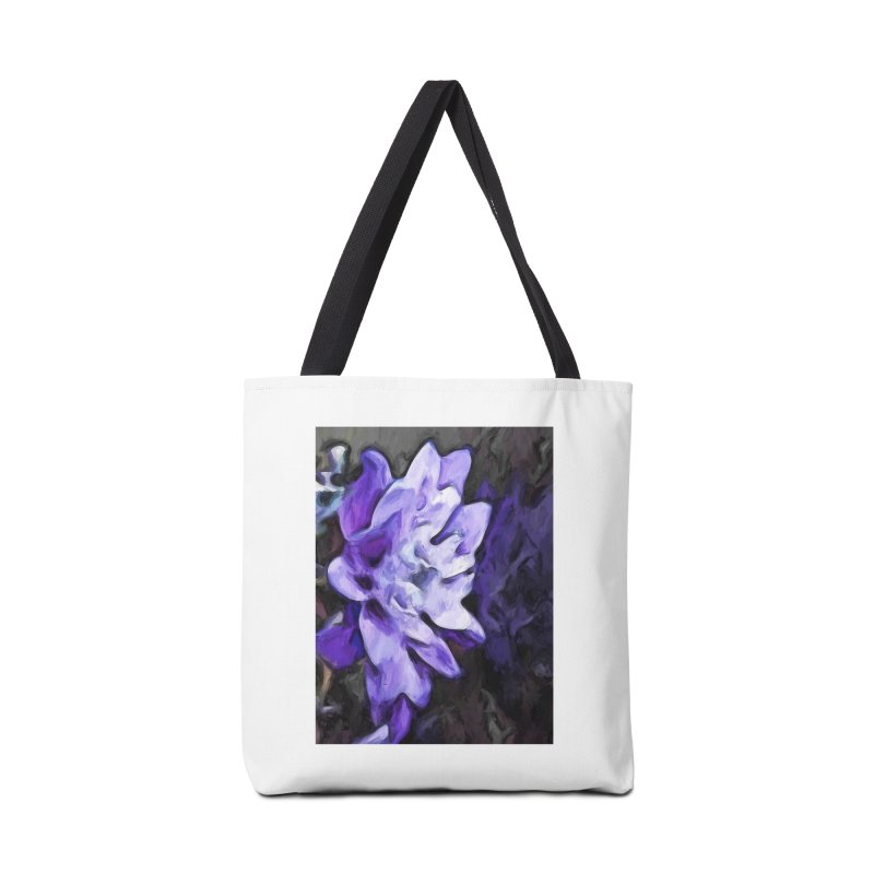 Purple Flower and Reflection Accessories Bag by jackievano's Artist Shop