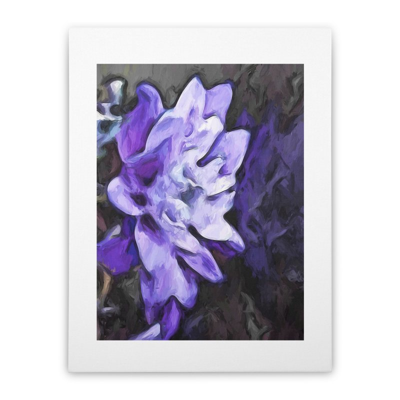Purple Flower and Reflection Home Stretched Canvas by jackievano's Artist Shop