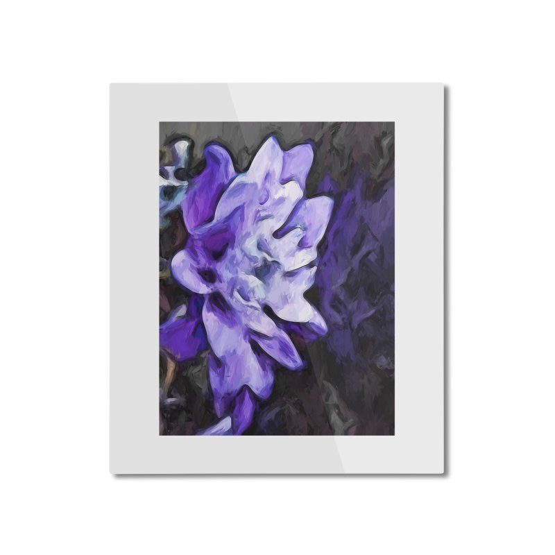 Purple Flower and Reflection Home Mounted Aluminum Print by jackievano's Artist Shop