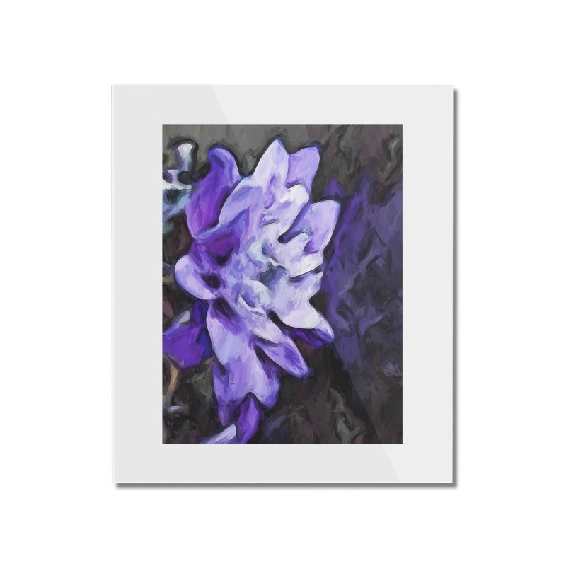 Purple Flower and Reflection Home Mounted Acrylic Print by jackievano's Artist Shop