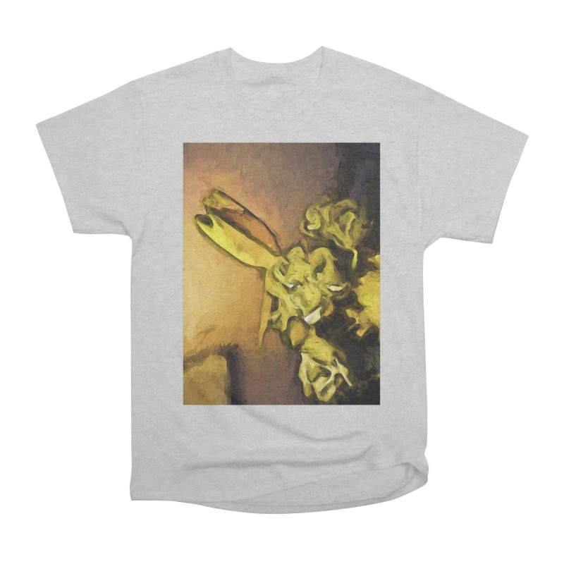 Yellow Flowers and White Roses 1 Men's Classic T-Shirt by jackievano's Artist Shop