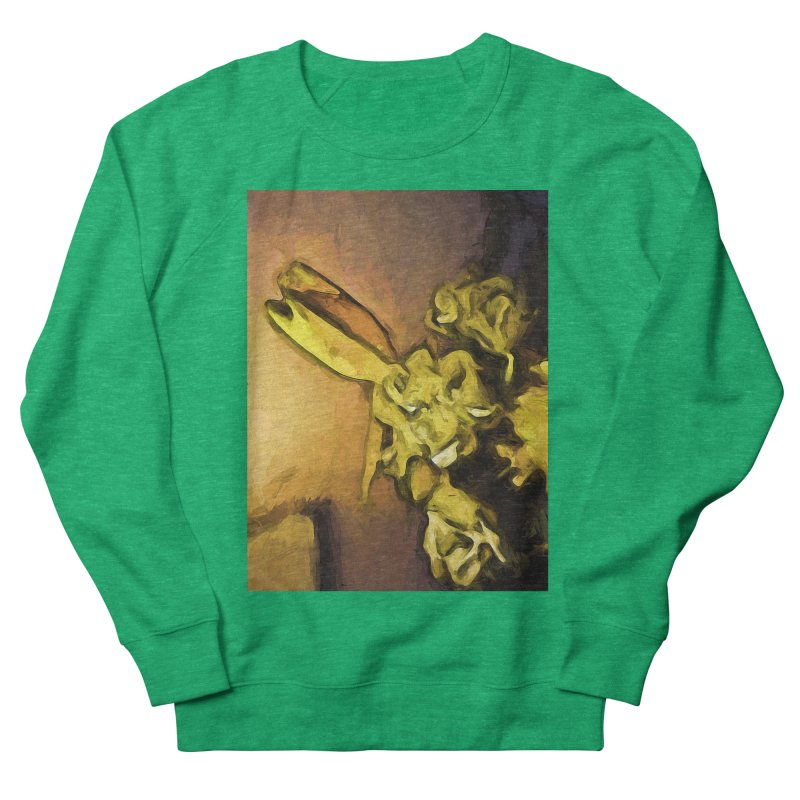 Yellow Flowers and White Roses 1 Women's Sweatshirt by jackievano's Artist Shop