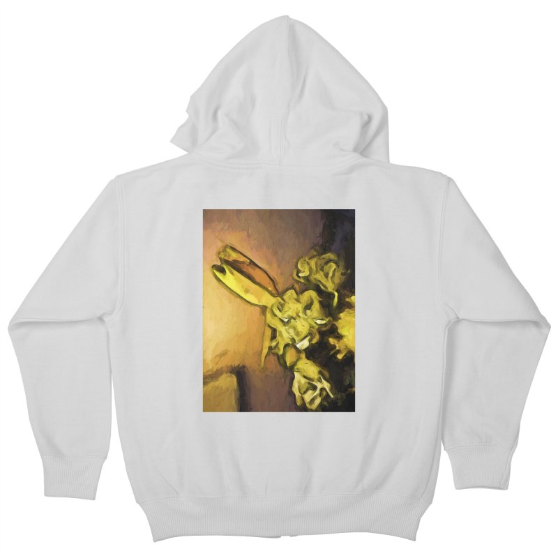 Yellow Flowers and White Roses 1 Kids Zip-Up Hoody by jackievano's Artist Shop