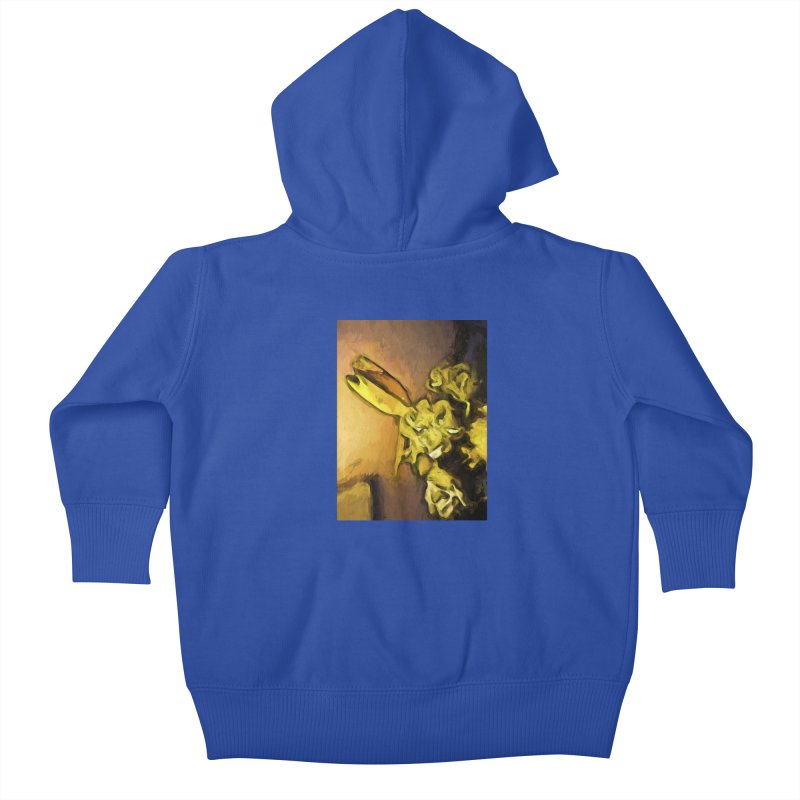 Yellow Flowers and White Roses 1 Kids Baby Zip-Up Hoody by jackievano's Artist Shop