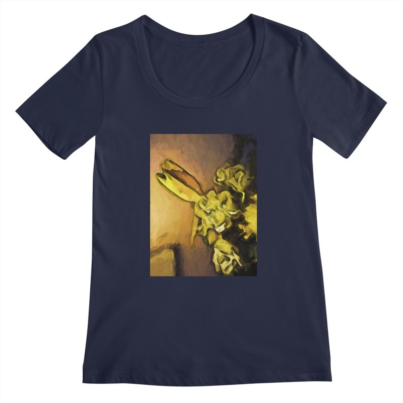 Yellow Flowers and White Roses 1 Women's Scoopneck by jackievano's Artist Shop
