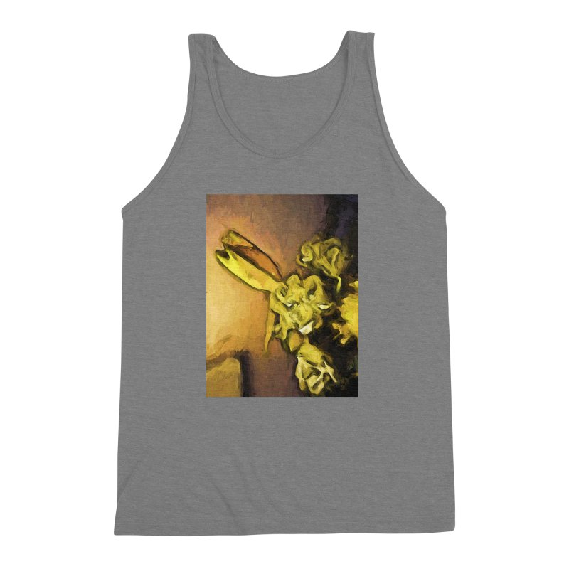 Yellow Flowers and White Roses 1 Men's Triblend Tank by jackievano's Artist Shop