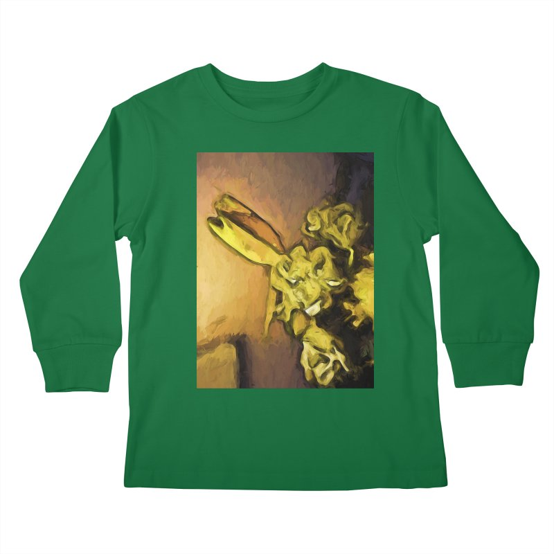 Yellow Flowers and White Roses 1 Kids Longsleeve T-Shirt by jackievano's Artist Shop