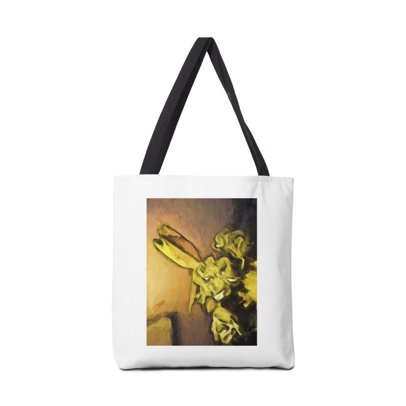 Yellow Flowers and White Roses 1 Accessories Bag by jackievano's Artist Shop