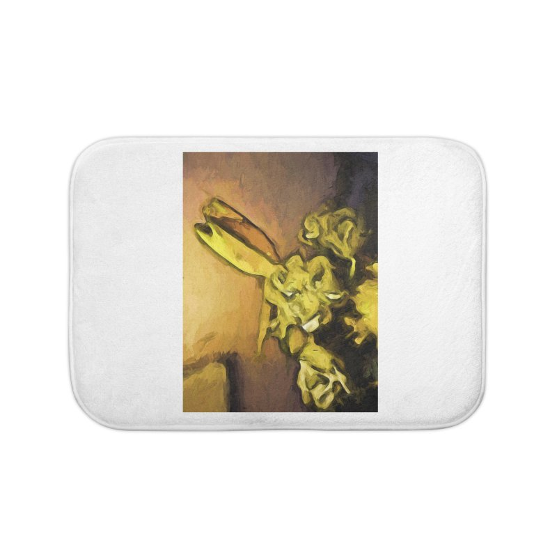 Yellow Flowers and White Roses 1 Home Bath Mat by jackievano's Artist Shop