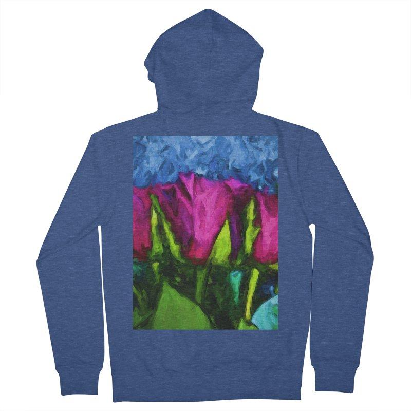 Lovers' Roses 1 Men's Zip-Up Hoody by jackievano's Artist Shop