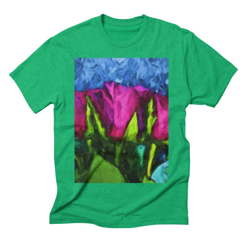 Lovers' Roses 1 Men's Triblend T-Shirt by jackievano's Artist Shop