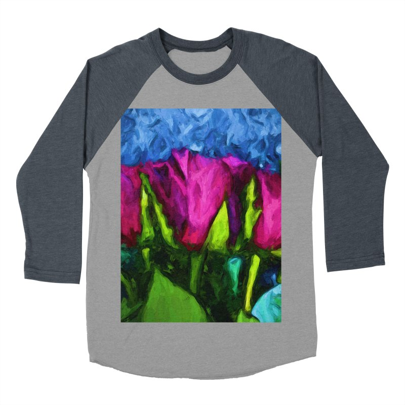 Lovers' Roses 1 Men's Baseball Triblend T-Shirt by jackievano's Artist Shop