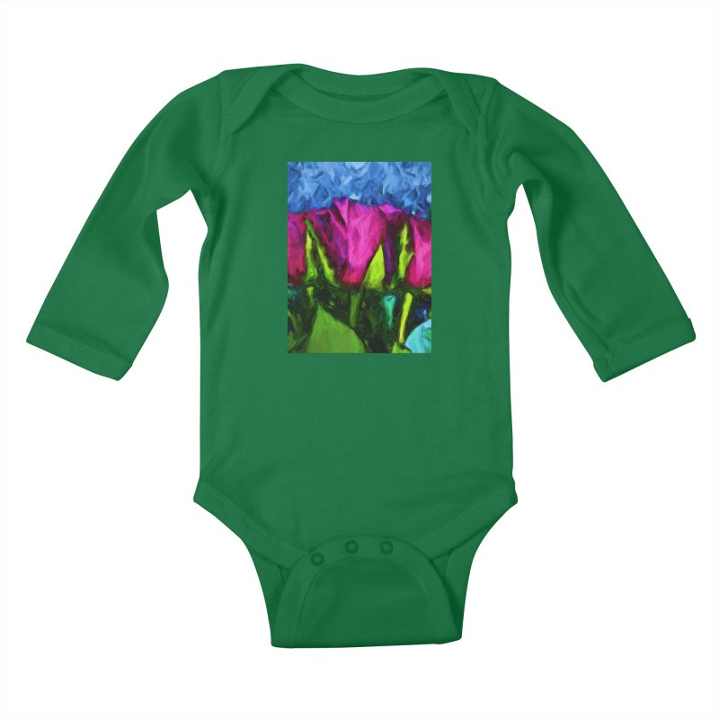 Lovers' Roses 1 Kids Baby Longsleeve Bodysuit by jackievano's Artist Shop