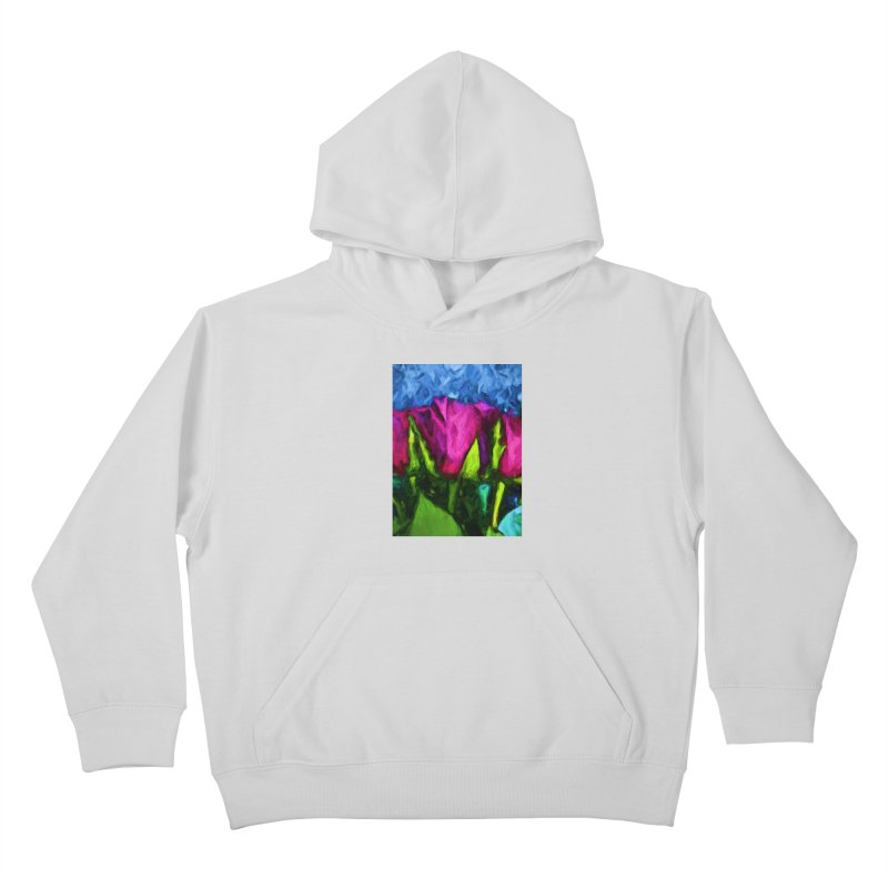 Lovers' Roses 1 Kids Pullover Hoody by jackievano's Artist Shop