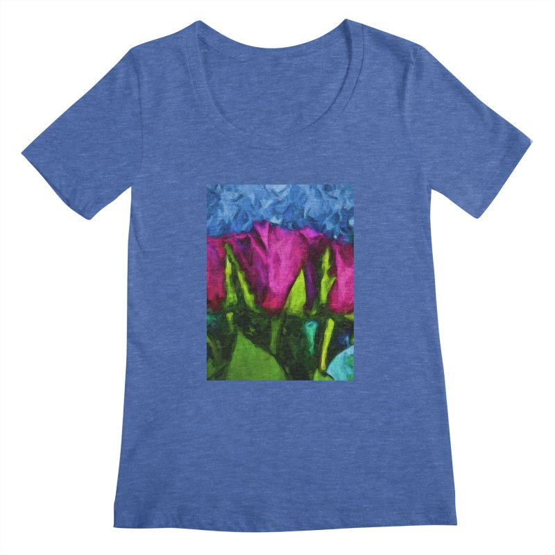 Lovers' Roses 1 Women's Scoopneck by jackievano's Artist Shop