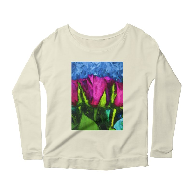 Lovers' Roses 1 Women's Longsleeve Scoopneck  by jackievano's Artist Shop