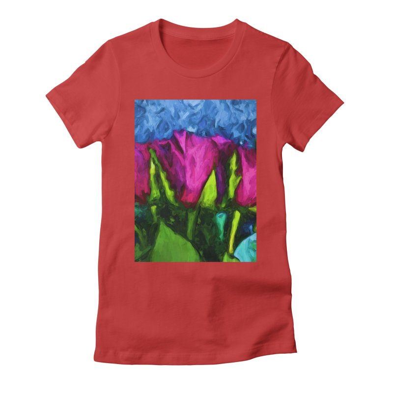 Lovers' Roses 1 Women's Fitted T-Shirt by jackievano's Artist Shop