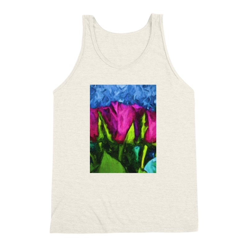 Lovers' Roses 1 Men's Triblend Tank by jackievano's Artist Shop
