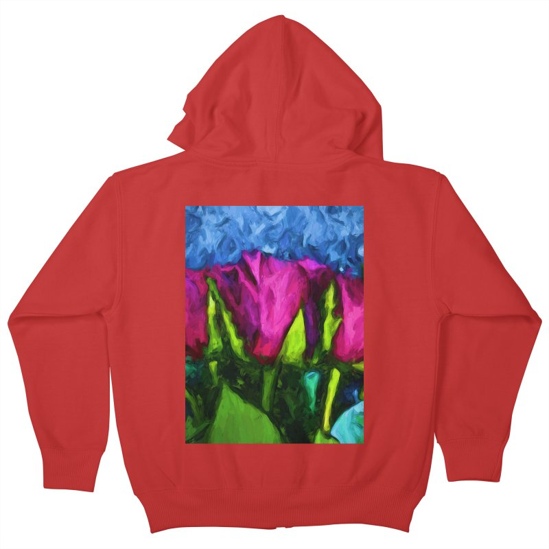 Lovers' Roses 1 Kids Zip-Up Hoody by jackievano's Artist Shop
