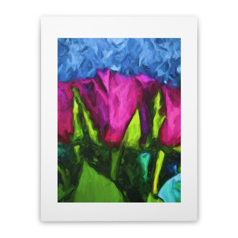 Lovers' Roses 1 Home Stretched Canvas by jackievano's Artist Shop