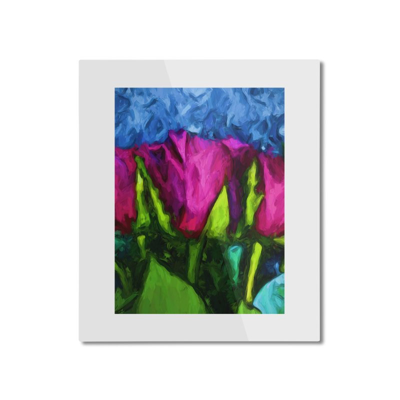 Lovers' Roses 1 Home Mounted Aluminum Print by jackievano's Artist Shop