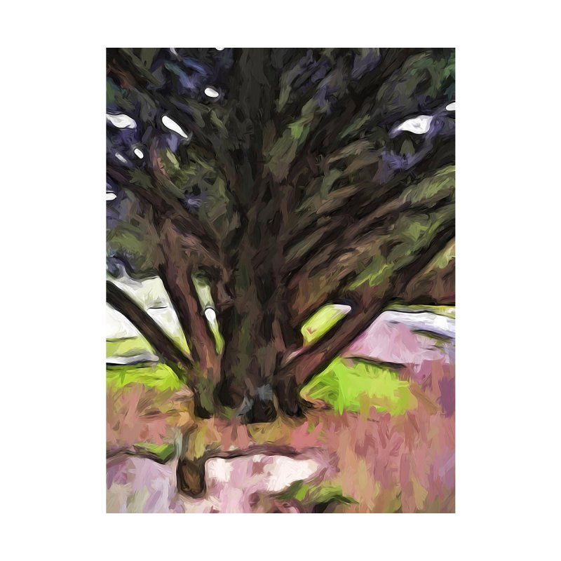 Avenue of Trees with a Pink Ground 1 by jackievano's Artist Shop