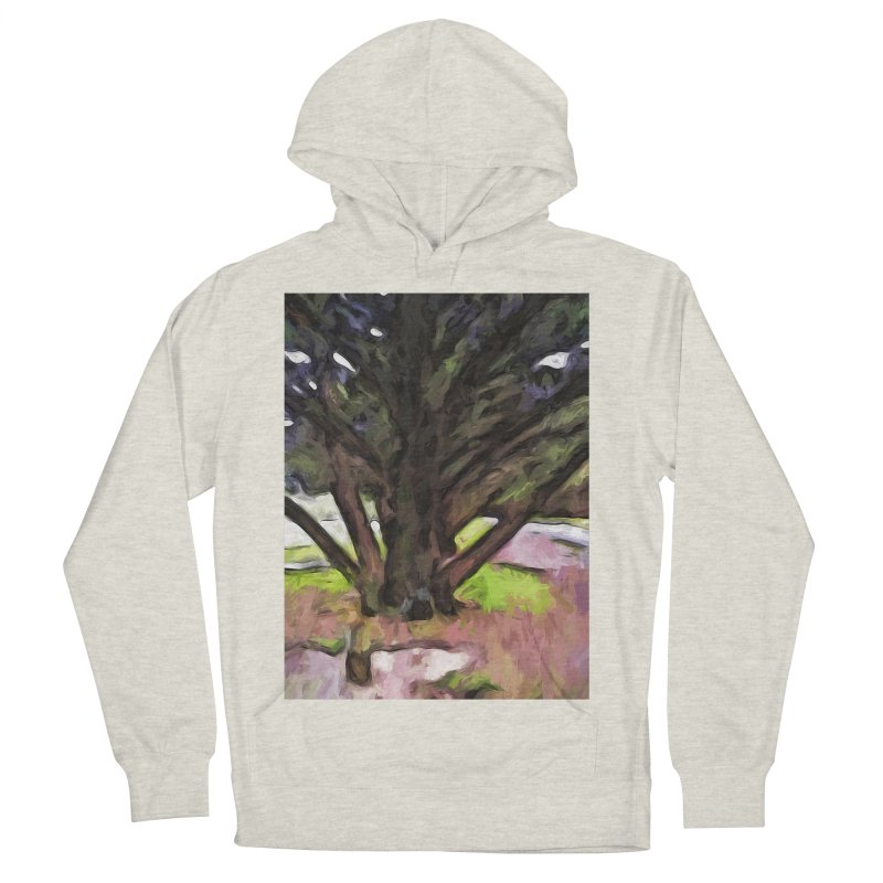 Avenue of Trees with a Pink Ground 1 Men's Pullover Hoody by jackievano's Artist Shop