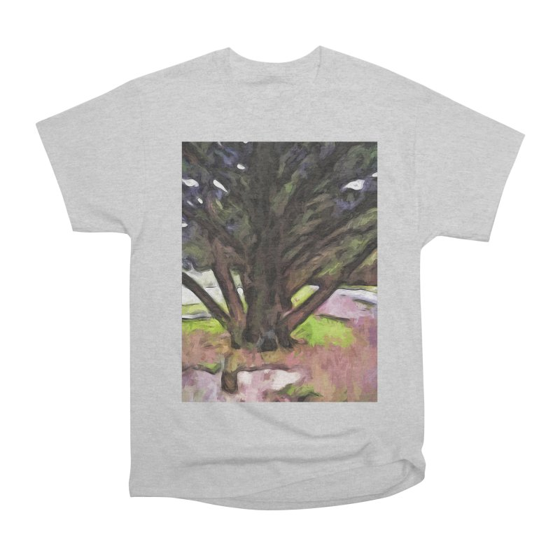 Avenue of Trees with a Pink Ground 1 Men's Classic T-Shirt by jackievano's Artist Shop