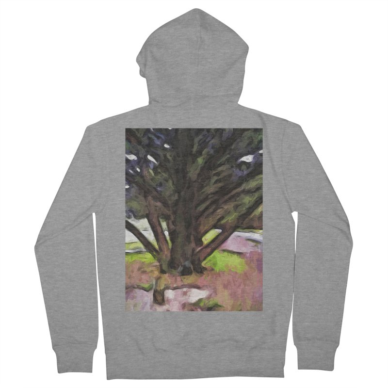Avenue of Trees with a Pink Ground 1 Women's Zip-Up Hoody by jackievano's Artist Shop