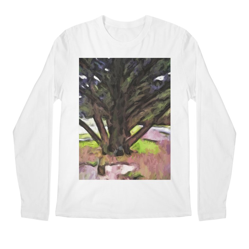 Avenue of Trees with a Pink Ground 1 Men's Longsleeve T-Shirt by jackievano's Artist Shop
