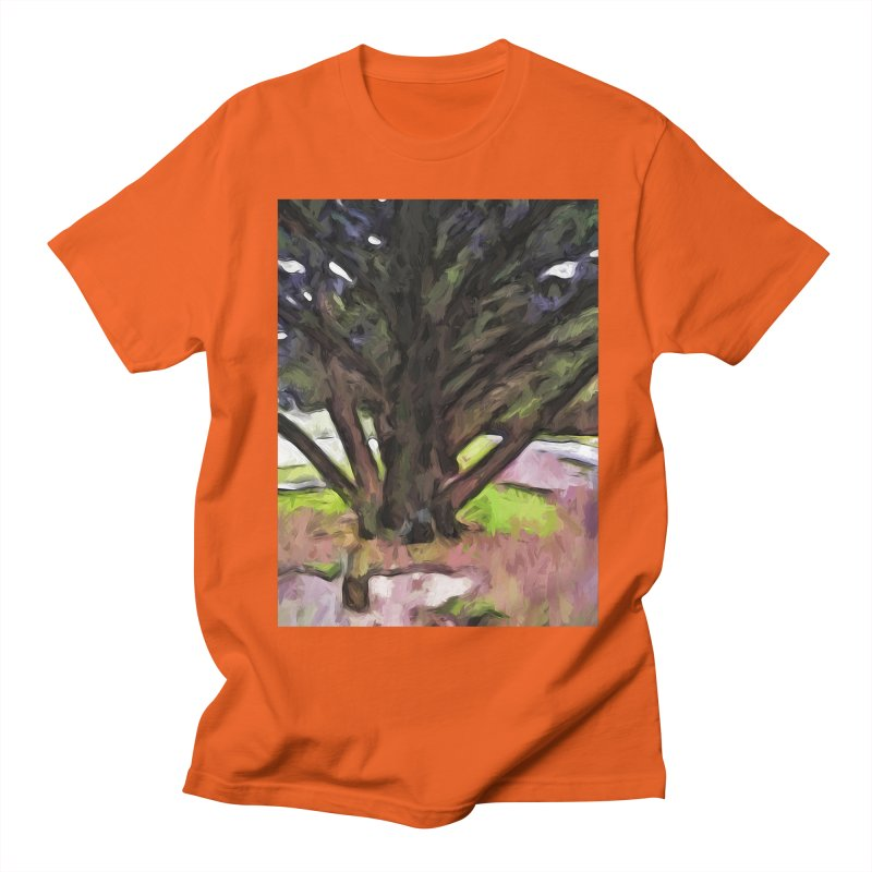 Avenue of Trees with a Pink Ground 1 Men's T-Shirt by jackievano's Artist Shop