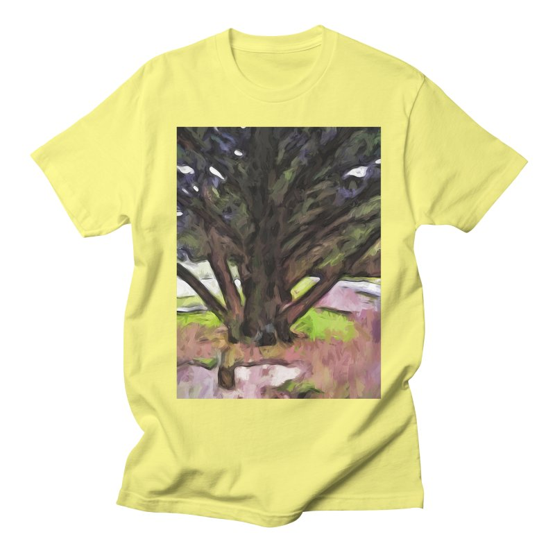 Avenue of Trees with a Pink Ground 1 Women's Unisex T-Shirt by jackievano's Artist Shop