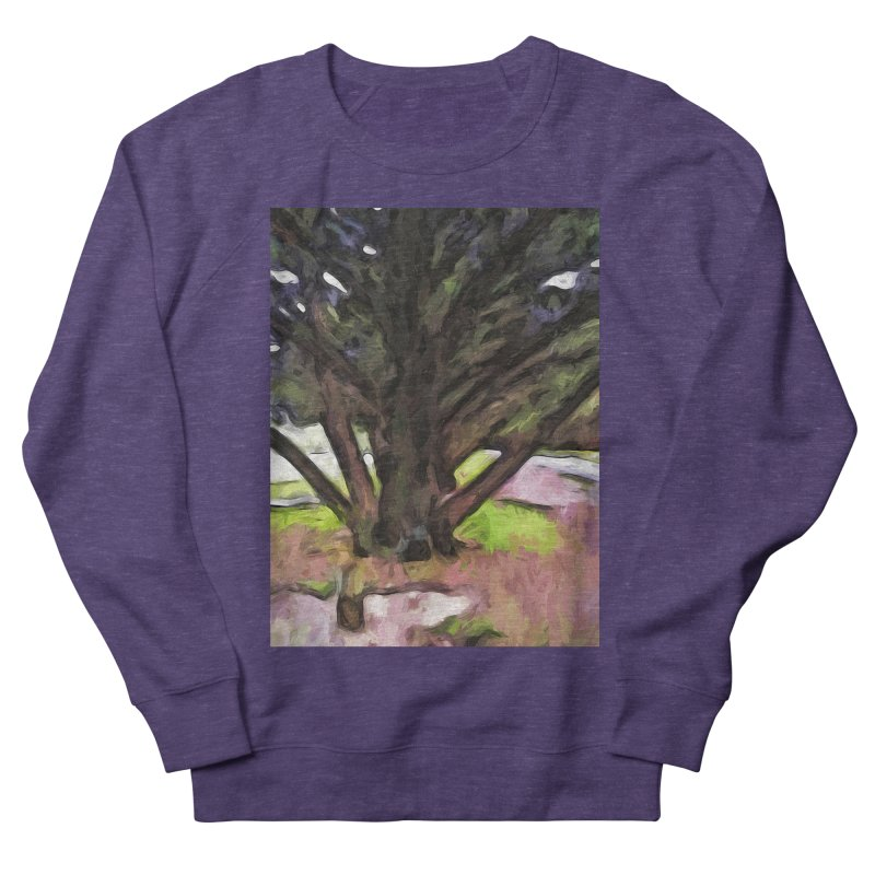 Avenue of Trees with a Pink Ground 1 Women's Sweatshirt by jackievano's Artist Shop